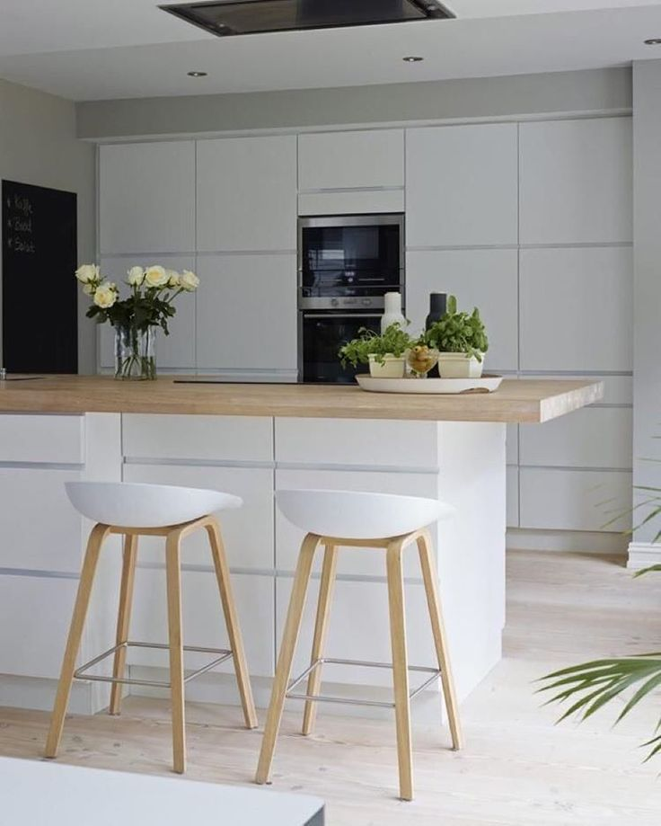 """Love this white kitchen  with my favourite Hay Design bar stools 