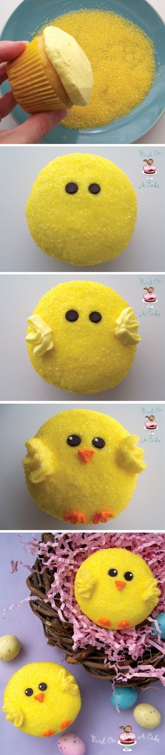 Easter Chick Cupcakes - Click image to find more Food & Drink Pinterest pins