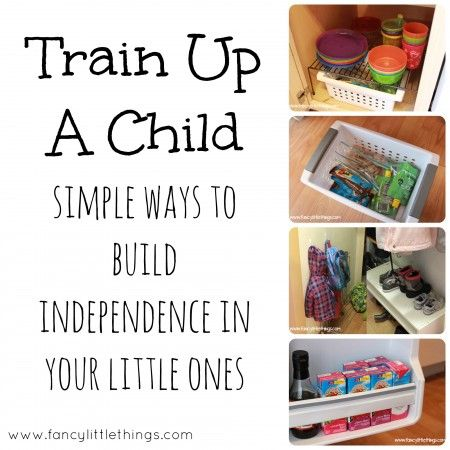 Train Up A Child: Building Independence in Your Little Ones