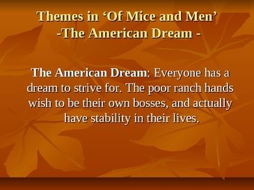 the american dream according to john Chasing the dream: researching the meaning of the  a 1966 essay on the american dream, john  their small groups according to decade and share their.