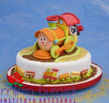 Train baby cake