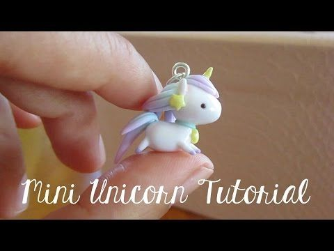 Kawaii Mini Unicorn polymer clay charm tutorial - ❤