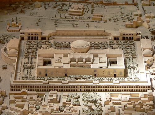 Model of the Baths of Caracalla. Museo della Civiltà Romana in Rome .