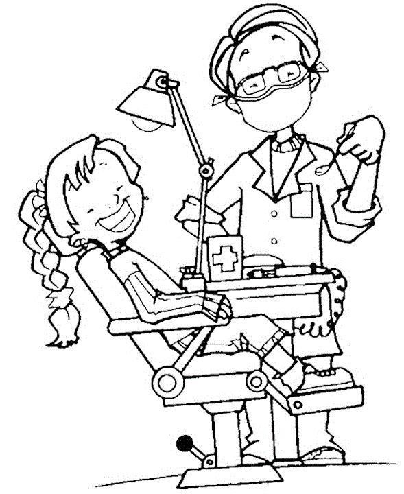 Dentist Coloring Sheets Print