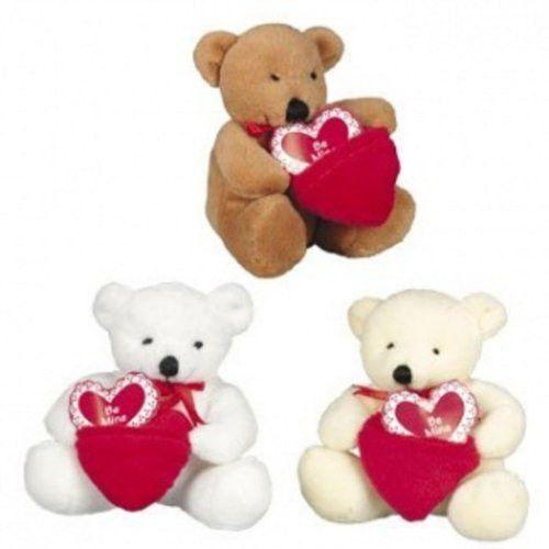 Dozen Plush Valentine Bears with Pocket Be Mine Hearts - Bulk Wholesale Toys
