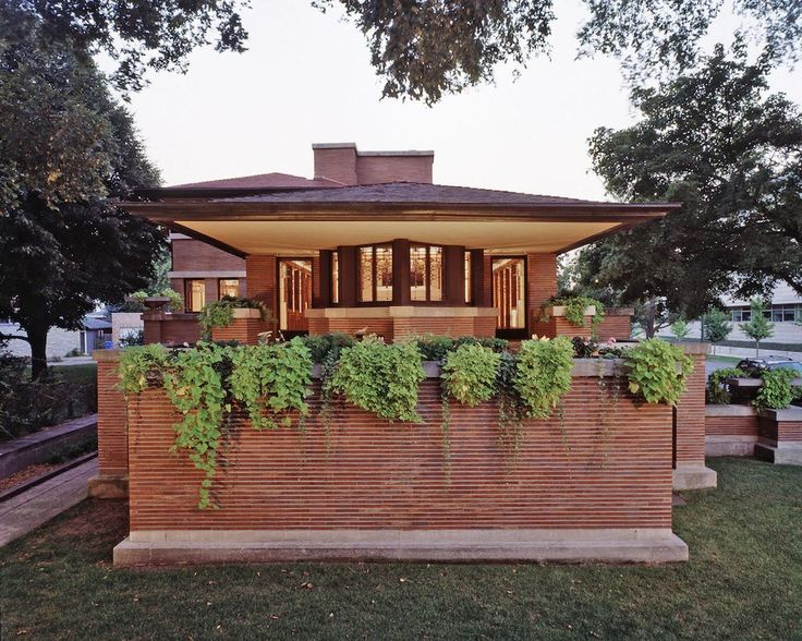 2544 best images about frank lloyd wright prairie houses for Frank lloyd wright prairie house