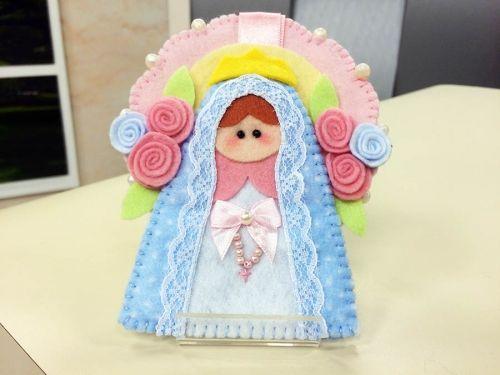 Arte Brasil | Chaveiro Nossa Senhora do Rosário em Feltro - Chrys Altran