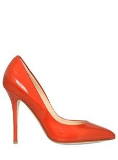 ファッショナブルなオレンジスティレットヒールレザーアッパークローズド足夏女性靴 4905