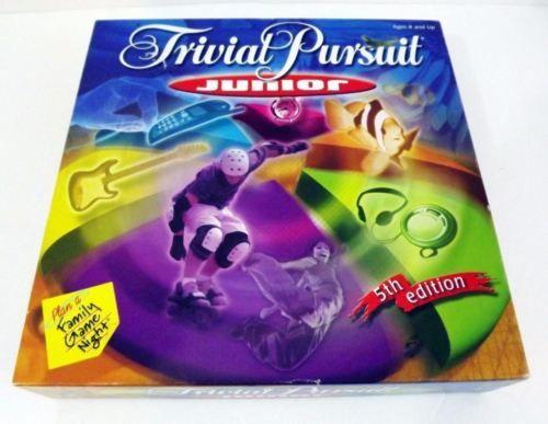 EUC COMPLETE Trivial Pursuit Junior 5th Edition Hasbro Horn Abbot 2001 LN