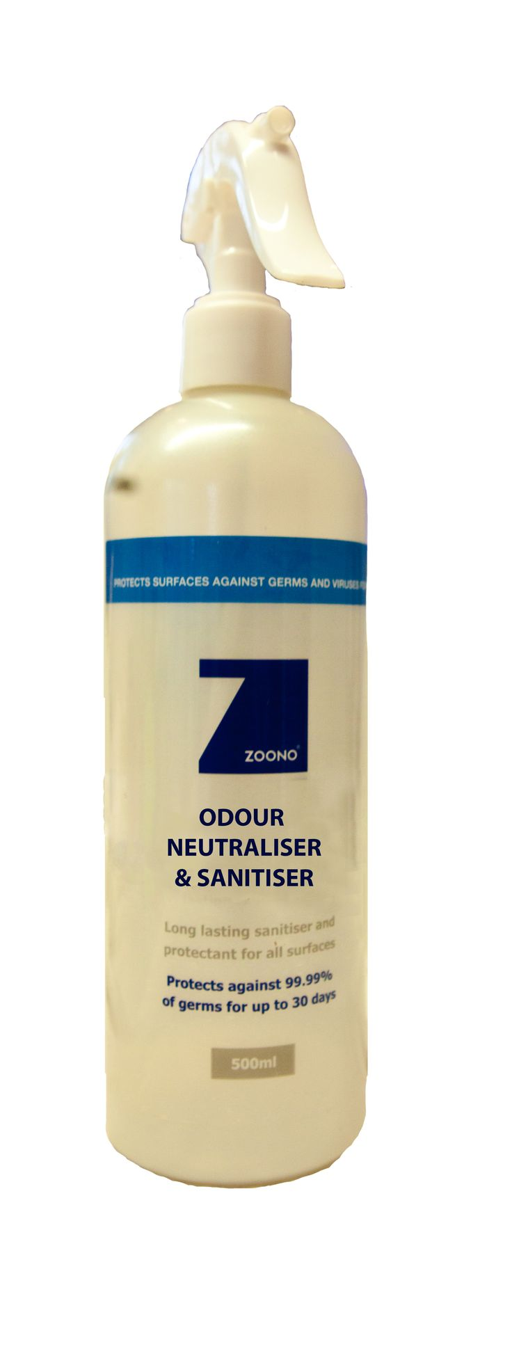 Zoono Odour Neutraliser & Sanitiser quickly eliminates unwanted odours from rooms, shoes and textiles - all while sanitising!