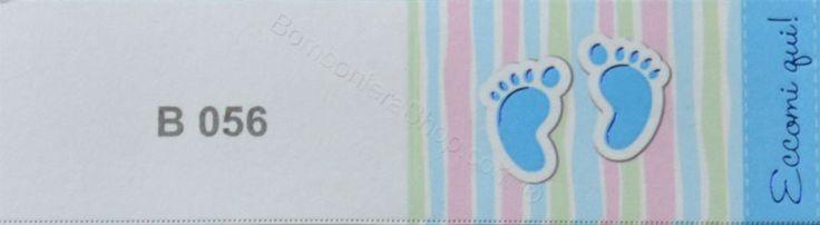 20 Bigliettini interno bomboniera simpatico per nascita bambino con impronte dei piedi