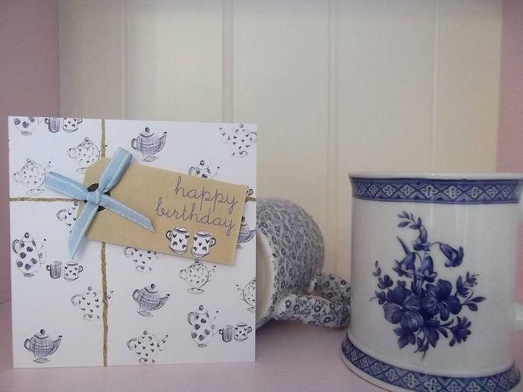 female teapot birthday card by laura sherratt designs | notonthehighstreet.com