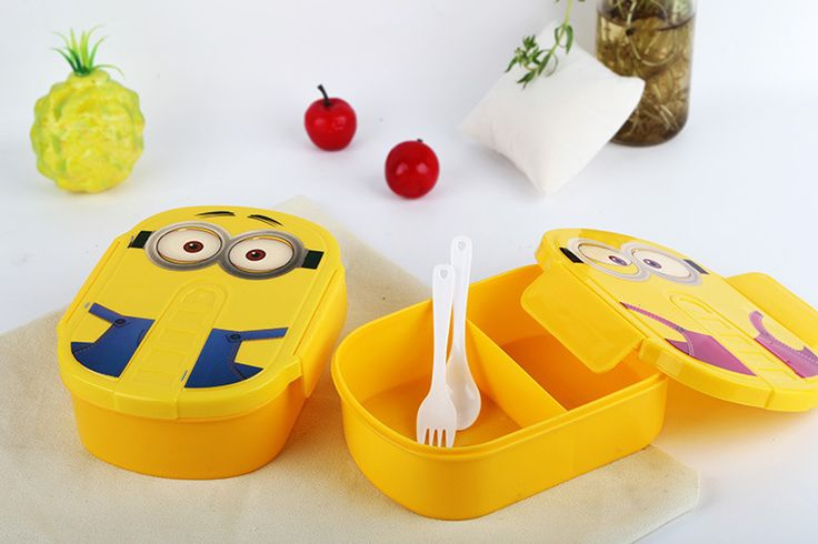 Minion Lunch Box for Kids (Microwavable)     Tag a friend who would love this!     FREE Shipping Worldwide     Get it here ---> https://gift-store.moonbeo.com/minion-lunch-box-kids/