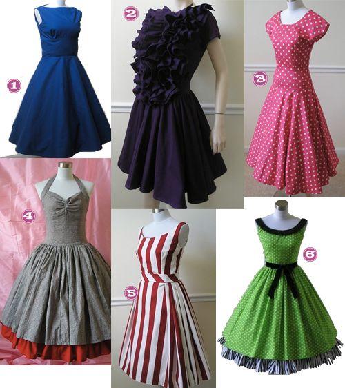 I wish I could wear 50's dresses.