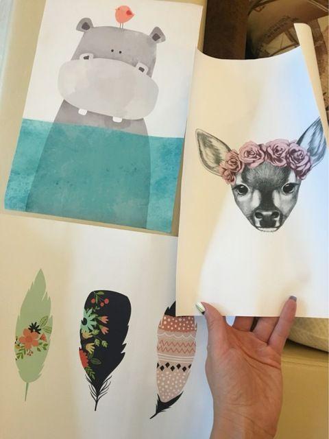 Nórdico moderno Kawaii Urso Hippo Animal Ave A4 Cópias Da Arte cartaz Dos Desenhos Animados Retratos Da Parede Da Lona Pintura Sem Moldura Quarto Dos Miúdos decoração Loja Online   aliexpress móvel