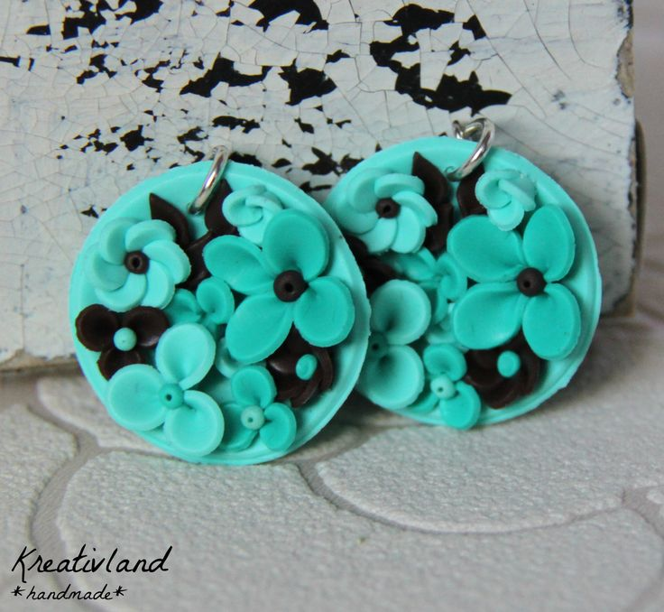 Minty choco potpourri - handcrafted from polymer clay (own design)