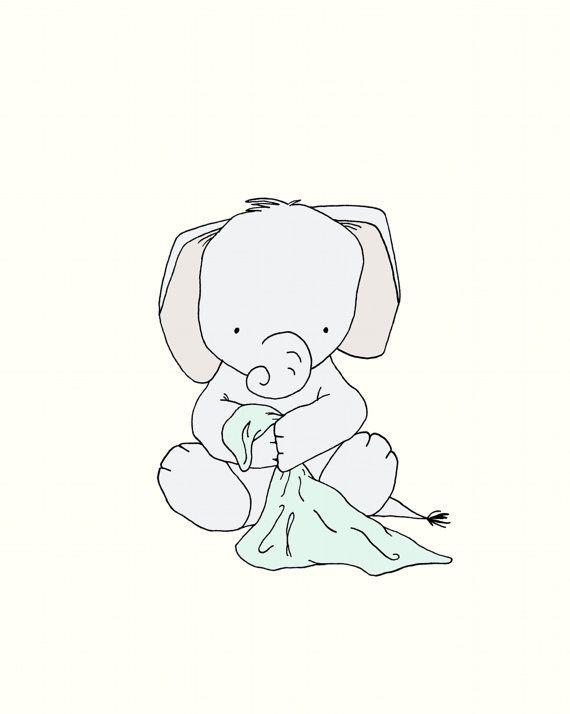 Crèche de léléphant ArtÉléphant par SweetMelodyDesigns sur Etsy