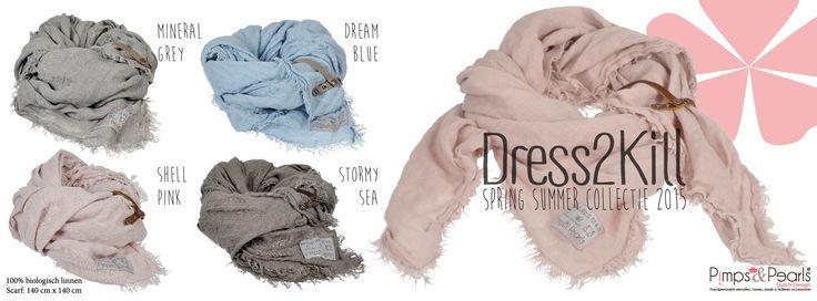 XL size,100% linnen, Dress2kill, Summer scarf 2015 by Pimps&Pearls
