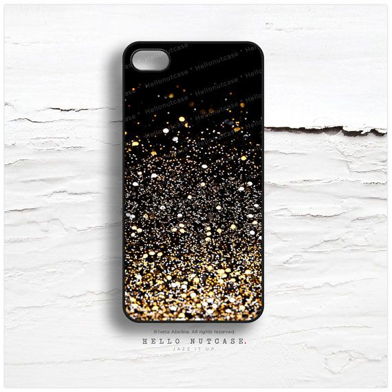 PLEASE NOTE: Glitter Texture is a PRINT, NOT REAL GLITTER.    Be Flirty. Be Bright. Be Radiant with Hello Nutcase unique iPhone designs!