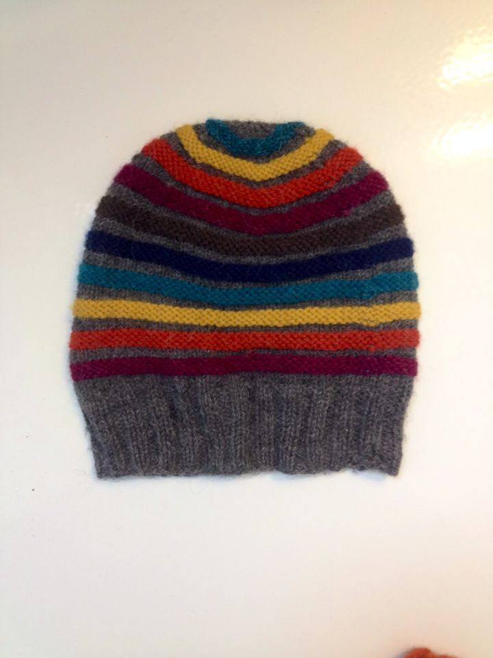 Colorful knitted hat
