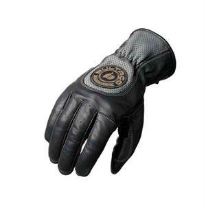 Guantes Bultaco Heritage, alma de motero, refuerzo de costuras en la parte de los dedos para mejor protección, elegante y con mucha fuerza. Fabricado en piel de primera calidad. www.relojes-especiales.net #guantes #negros #piel #moteros