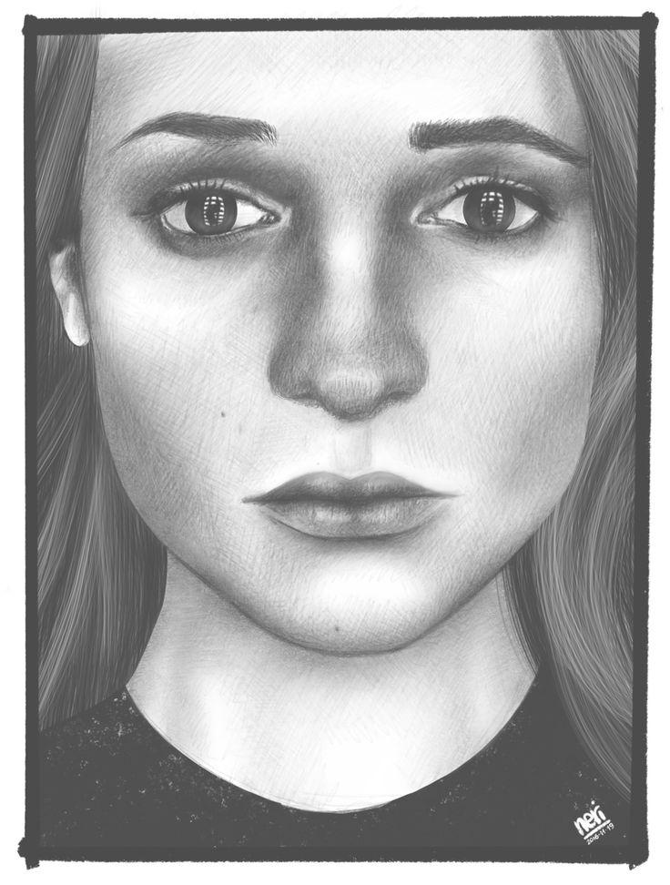 Era un po' che non disegnavo niente, così... Da una foto di Alicia Vikander. #drawing #applepencil #procreateapp #digitalpainting #digitalart #aliciavikander
