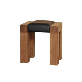 Tokyo Solid Oak MRDTS1 Dressing Table Stool   www.easyfurn.co.uk