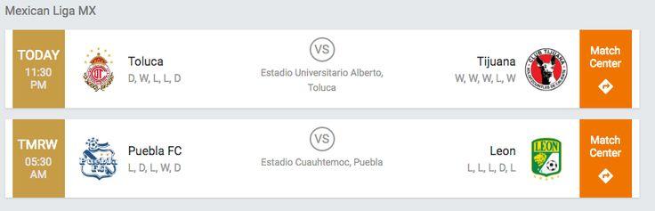 #MexicanLigaMX #Soccer #Toluca vs  #Tijuana #PueblaFC vs  #Leon #Predict result of #games & #Win at
