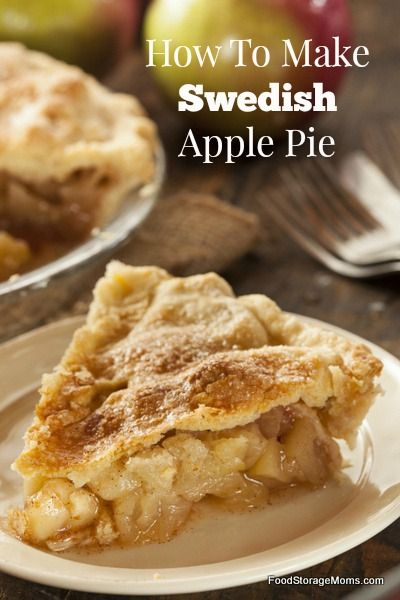 How To Make Swedish Apple Pie-It's So Easy | via www.foodstoragemoms.com