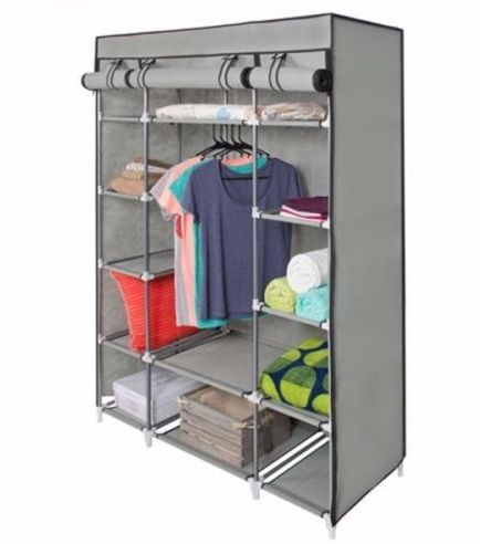 5-Tier Portable Wardrobe Storage with Customizable Shelves & Cover Read more at https://www.yugster.com/daily-deal/80300-5-tier-portable-wardrobe-storage-with-customizable-shelves-cover#5gkSAAxmGH7Rw1Vv.99