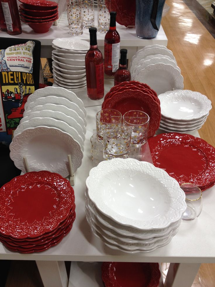 Red and white plates for your #CanadaDay party! | HomeSense