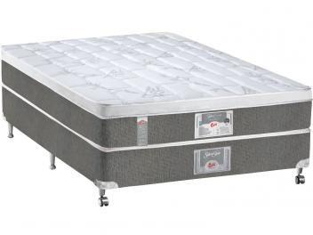Cama Box Casal (Box + Colchão) Castor Mola Pocket - 50cm de Altura Silver Star