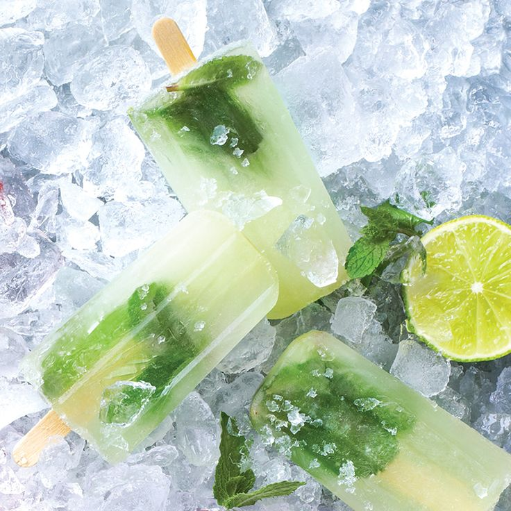 Our Mojito popsicle is  a cocktail and an ice lolly recipe combined. A perfect Summer treat. But for adults only.