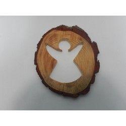 RODAJA TRONCO PINO - ANGEL (20cm) #natural #madera #materiales #decoración #navidad