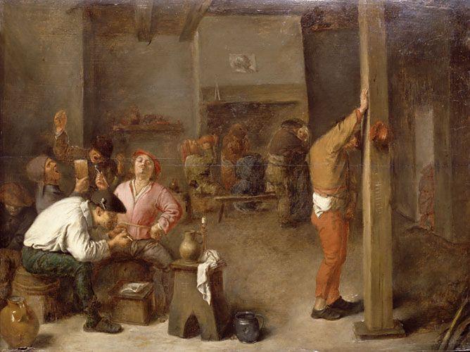 Interior of a Tavern - Adriaen Brouwer, 1630