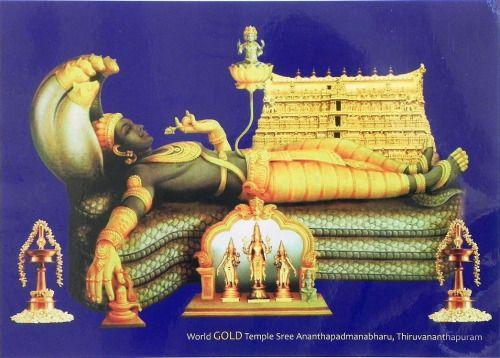 Sree Ananthapadmanabharu - Anantashayan Vishnu  (via Dolls of India)