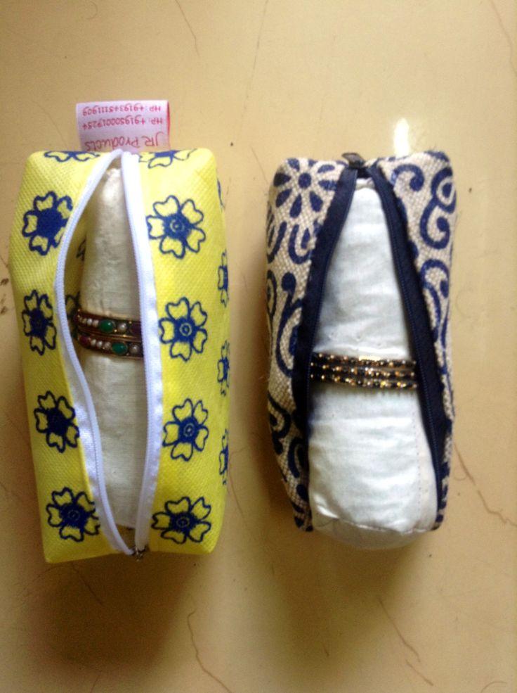 Jute co/aster bangle pouches