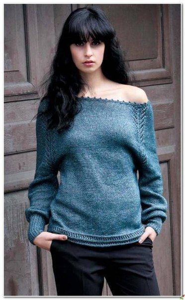На женских свитерочках такой способ вязания реглана будет смотреться нежно и легко. Давайте свяжем ажурную линию реглана, как на фото. Думаю, многим понравится такой метод вязания. Мастер класс так же…