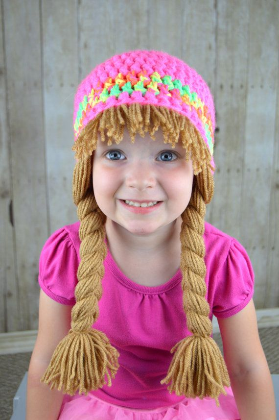 Baby Hats Cabbage Patch Wig Gift for girls Cute Winter Hat or Halloween Costume