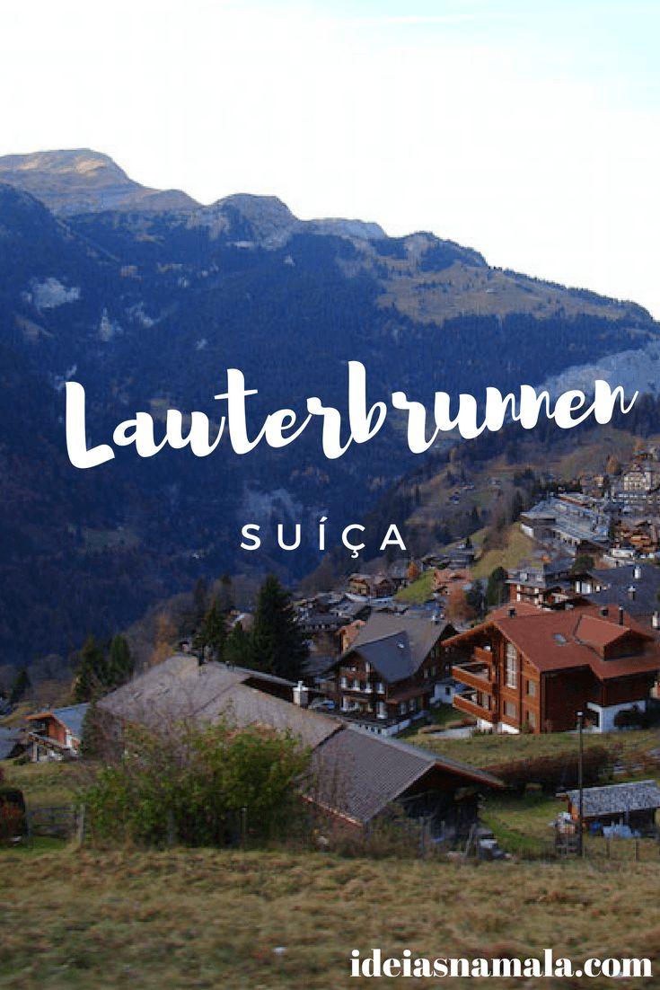 Lauterbrunnen é uma cidade charmosa nos pés da montanha Jungfraujoch, na Suíça. Vem conhecer!