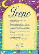Irene: signficado del nombre.