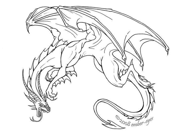 Line Drawing Dragon : Fierce dragon by ember eyes line art pinterest