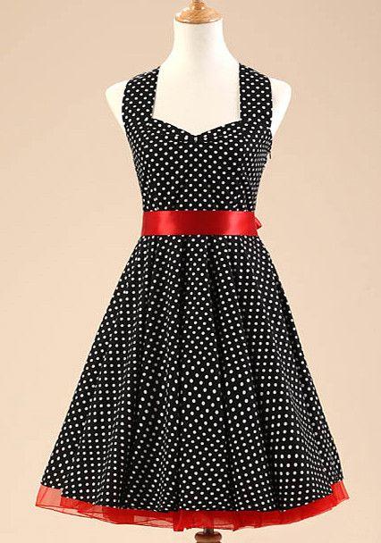 Black and White Polka Dot Vintage Dress