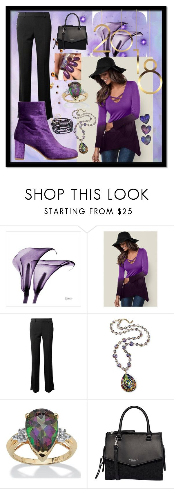 """""""Purple For 2018"""" by aurorasblueheaven ❤ liked on Polyvore featuring Venus, Alexander Wang, Palm Beach Jewelry, Fiorelli and 1928"""