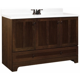 """ESTATE by RSI 48"""" Cognac Oak Ashton Bottom Drawer Bath Vanity $399. I looooove this but the reviews on lowes.com are bad!"""