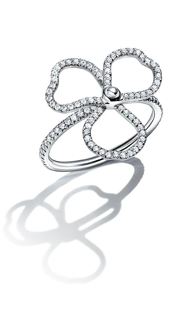 Diamond Open Flower Ring Tiffany Rings Tiffany Rings Diamond