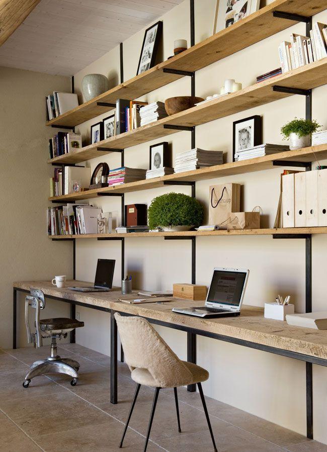 Gut gemocht Les 25 meilleures idées de la catégorie Bureau bibliothèque sur  XL43