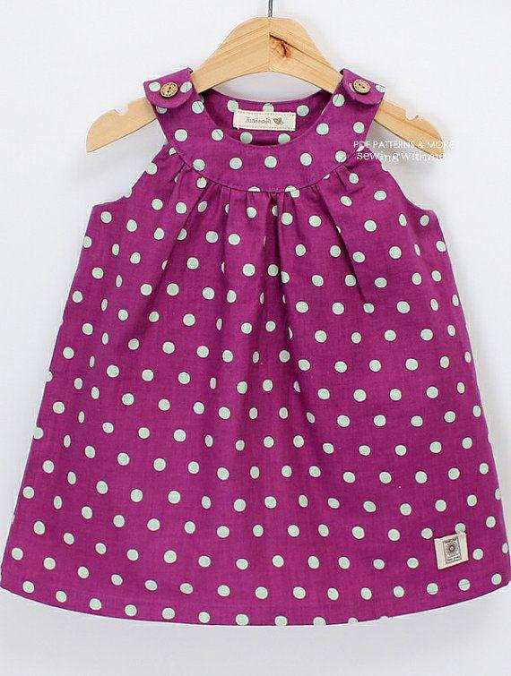 no 270 Camilla Dress (6 - 24 months) PDF Pattern with free legging pattern