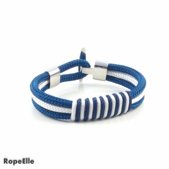 Premium quality handmade bracelet. It can be worn for any occasion.  Material : high quality marine rope, stainless steel.   SIZING  Measure the wrist without adding space and select the measure of your wrist. If you need a size that is not listed, please choose Other and include it in the notes section of your order at checkout.  SHIPPING  All orders will be shipped within 1-2 business days. After your package is shipped, you should get it in:  Europe : 5-10 days USA & Canada : 10-18 days…
