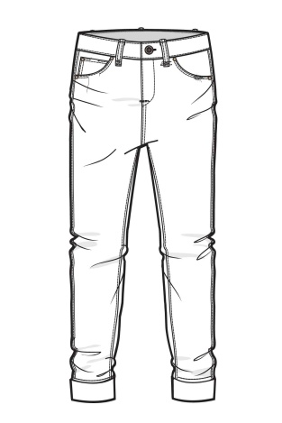 9 best Jeans and Trousers Line Drawings images on